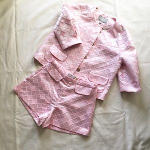 Jackets & Blazers - Two-piece Pink Suit Set